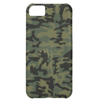 Green camo pattern cover for iPhone 5C