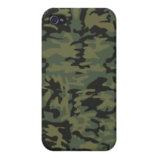 Green camo pattern case for iPhone 4