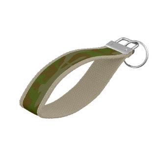 Green Camo Pattern Key Chain