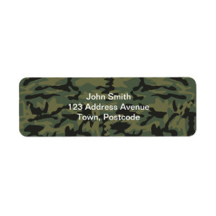 Green Army Men Return Address Labels Printable Personalized Military Camo Soldier PDF File Fits Avery 5160 or 8160 or Custom Size