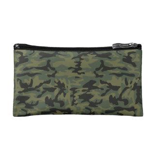 Green camo pattern makeup bag