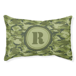 Green Camo Pattern Pet Bed