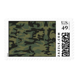 Green camo pattern postage stamp