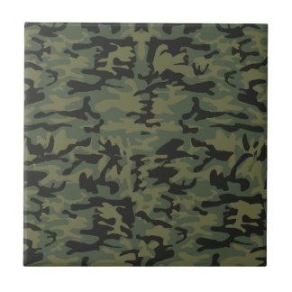 Green camo pattern tile