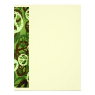 Green Camo/Peace Signs Look Letterhead