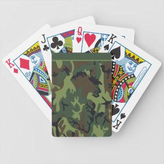 Green Camo Poker Cards