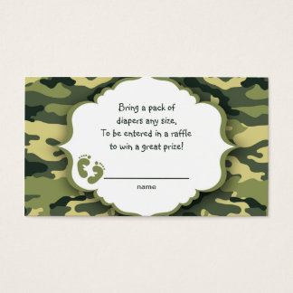 Green Camo raffle tickets or insert cards