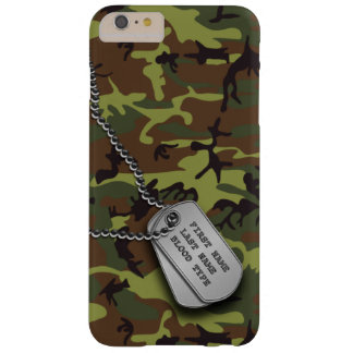 Green Camo w/ Dog Tag Barely There iPhone 6 Plus Case