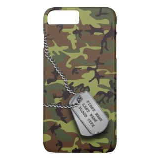 Green Camo w/ Dog Tag iPhone 7 Plus Case