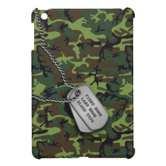 Green Camo w/ Dog Tags Case For The iPad Mini