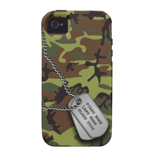 Green Camo w/ Dog Tags Case-Mate iPhone 4 Cover