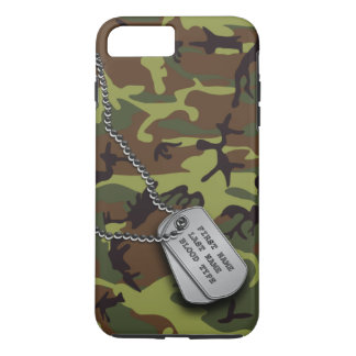 Green Camo w/ Dog Tags iPhone 8 Plus/7 Plus Case