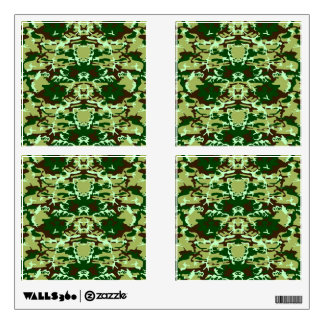 Green camo wall decal