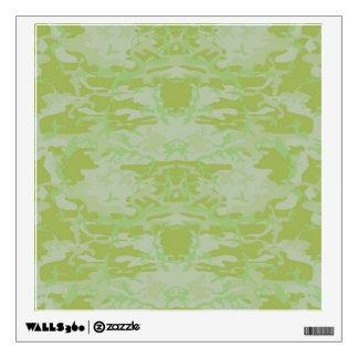 Green camo wall sticker