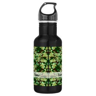 Green camo water bottle