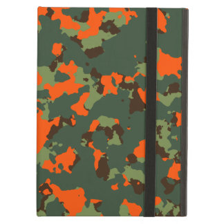 Green Camo with Safety Blaze Orange Cover For iPad Air