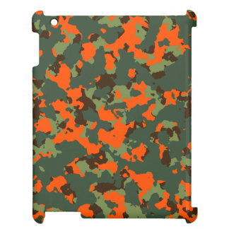 Green Camo with Safety Blaze Orange Case For The iPad 2 3 4