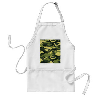 Green camouflage adult apron