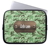 green camouflage army laptop sleeve