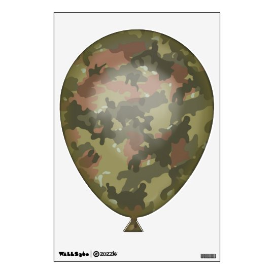 Green Camouflage Balloon Wall Decal Zazzle Com