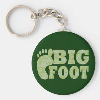 Green camouflage Bigfoot text Keychain
