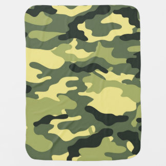 Green Camouflage Camo texture Baby Blanket