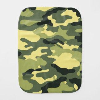 Green Camouflage Camo texture Burp Cloth