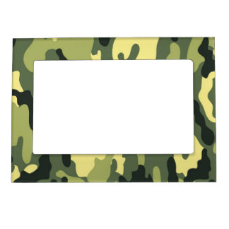 Green Camouflage Camo texture Magnetic Picture Frames