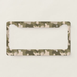 Green Camouflage. Camo your License Plate Frame