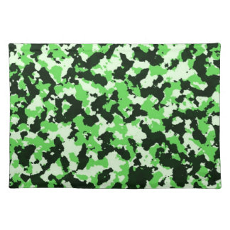 Green Camouflage Cloth Placemat