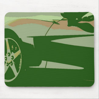 Green Camouflage Corvette Mouse Pad
