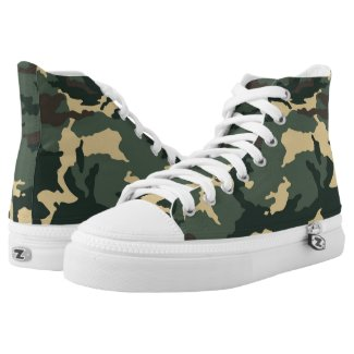 Green Camouflage... High-Top Sneakers