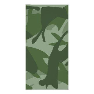 Green Camouflage II Card