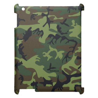 Green camouflage iPad Case