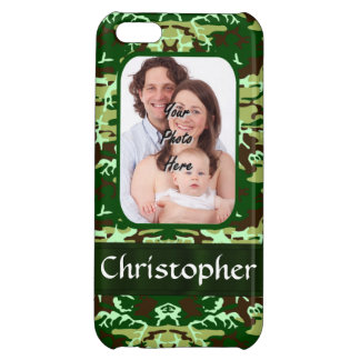 Green camouflage iPhone 5C cover