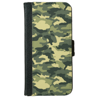 Green Camouflage iPhone 6 Wallet Case