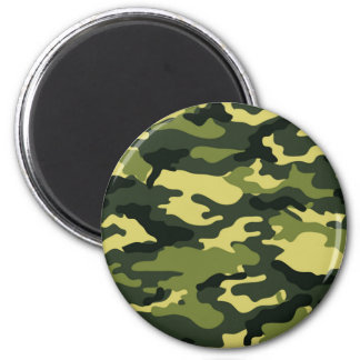 Green camouflage magnet