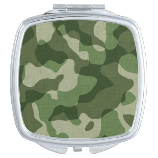 Green Camouflage Makeup Mirror