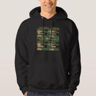 Green Camouflage Mens Hoodie