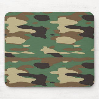 Green Camouflage Mousepad
