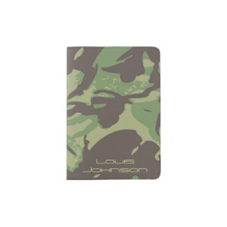 Green Camouflage Passport Holder