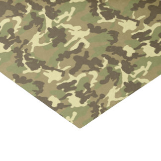"Green Camouflage Pattern 10"" X 15"" Tissue Paper"