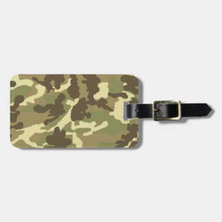 Green Camouflage Pattern Bag Tag