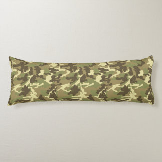 Green Camouflage Pattern Body Pillow