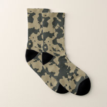 Green Camouflage Pattern. Camo your Socks
