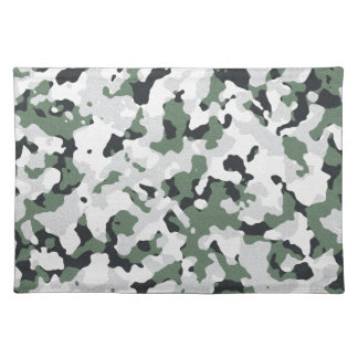 Green camouflage pattern cloth placemat