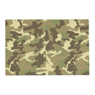 Green Camouflage Pattern Laminated Placemat