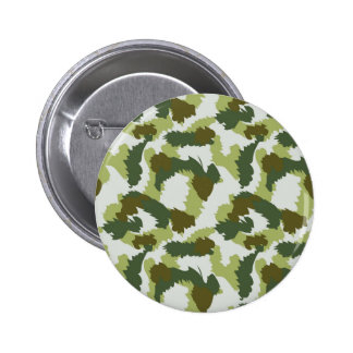 Green Camouflage pattern Pinback Button