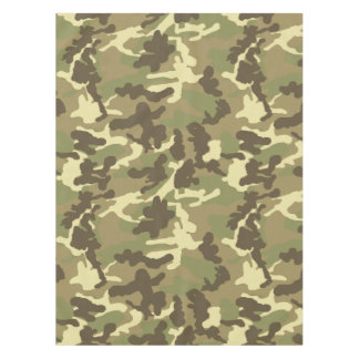Green Camouflage Pattern Tablecloth