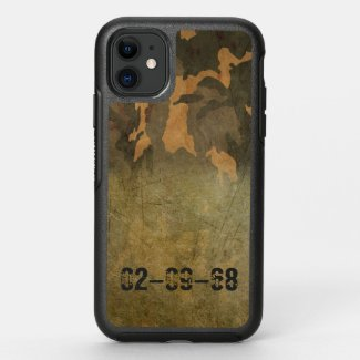 Green camouflage pattern vintage V2.0 OtterBox Symmetry iPhone 11 Case